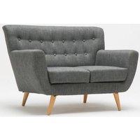 Product photograph showing Birlea Loft Grey 2 Seater Fabric Sofa