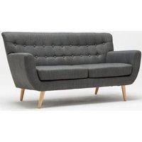 Product photograph showing Birlea Loft Grey 3 Seater Fabric Sofa