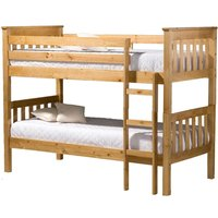 Product photograph showing Birlea Portland Pine 3ft Bunk Bed