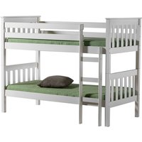 Product photograph showing Birlea Portland White 3ft Bunk Bed
