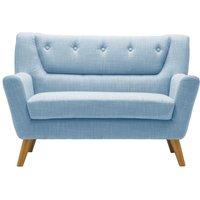 Product photograph showing Birlea Lambeth Duck Egg Blue Fabric 2 Seater Sofa
