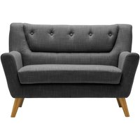 Product photograph showing Birlea Lambeth Grey Fabric 2 Seater Sofa