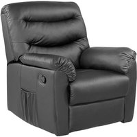 Product photograph showing Birlea Regency Black Faux Leather Recliner Chair