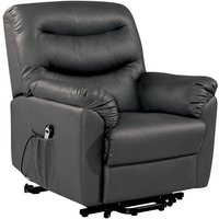 Product photograph showing Birlea Regency Black Faux Leather Rise And Recliner Chair