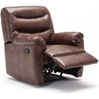 Product photograph showing Birlea Regency Bronze Brown Faux Leather Recliner Chair