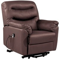 Product photograph showing Birlea Regency Brown Faux Leather Rise And Recliner Chair