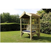 Product photograph showing Churnet Valley Cottage 2 Seater Garden Arbour Trellis Back And Sides
