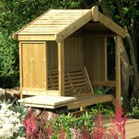 Product photograph showing Churnet Valley Cottage 3 Seater Garden Arbour