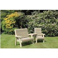 Product photograph showing Churnet Valley Ergo Trio Garden Chair Set