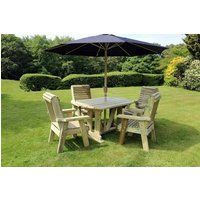 Product photograph showing Churnet Valley Deluxe Black Parasol