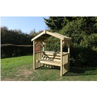 Product photograph showing Churnet Valley Anastasia 3 Seater Garden Arbour