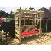 Product photograph showing Churnet Valley Beatrice 3 Seater Garden Arbour