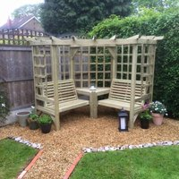 Product photograph showing Churnet Valley Clementine Corner 4 Seater Garden Arbour