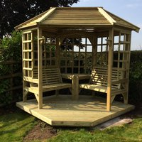 Product photograph showing Churnet Valley Clementine Corner Garden Arbour