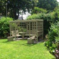 Product photograph showing Churnet Valley Riviera Pergola Garden Seats