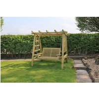 Product photograph showing Churnet Valley Pergola 2 Seater Garden Swing