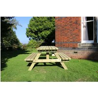 Deluxe Picnic Table Set with 2 Benches - Churnet Valley