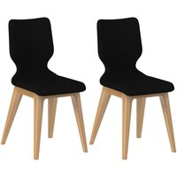 Product photograph showing Forma Black Fabric Dining Chair Pair