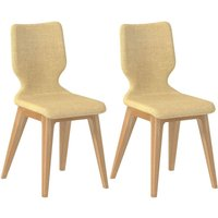 Product photograph showing Forma Cream Fabric Dining Chair Pair