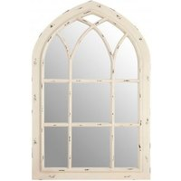 Product photograph showing Clearance - Saki Cream Arch Wall Mirror - 80cm X 120cm - New - E-425