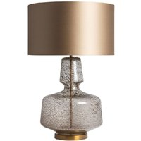 Product photograph showing Clearance - Heathfield Adora Antique Glass Table Lamp With Gilt Satin Shade - New - E-801