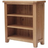 Product photograph showing Clearance - Hampshire Oak Low Bookcase - New - Fss8829