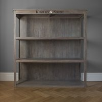 Product photograph showing Clearance Half Price - Hudson Living Floor Standing Shelf Unit - Weathered - New - F86