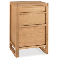 Product photograph showing Clearance Bentley Designs Studio Oak Filing Cabinet - 2186