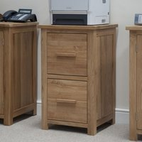 Product photograph showing Clearance Homestyle Gb Opus Oak Filing Cabinet - 2049
