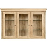 Product photograph showing Clearance - Clemence Richard Moreno Oak 3 Door Wide Sideboard Top - New - E-716
