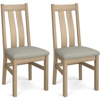Product photograph showing Corndell Daylesford 2 Slat Dining Chair - Oak Pair