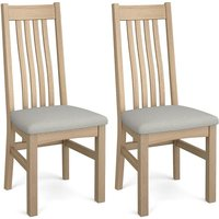 Product photograph showing Corndell Daylesford 4 Slat Dining Chair - Oak Pair
