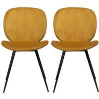 Product photograph showing Dan Form Cloud Bronze Velvet Dining Chair Pair
