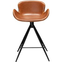 Dan Form Gaia Vintage Light Brown Faux Leather Counter Stool