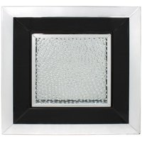Product photograph showing Alfreton Floating Crystal Black Large Square Mirror Wall Art