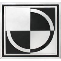Product photograph showing Montague Black Mirrored Wall Art