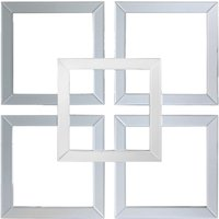 Product photograph showing Montague Grey Mirrored Geo Wall Art