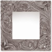 Product photograph showing Deknudt Massive Silver Square Wall Mirror