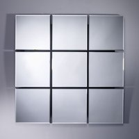 Product photograph showing Deknudt Quarto Square Wall Mirror