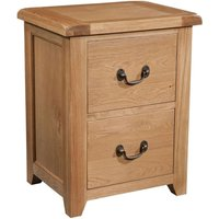 Product photograph showing Somerset Oak 2 Drawer Filing Cabinet