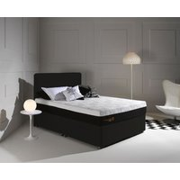 Product photograph showing Dormeo Octaspring Tiffany Midnight Black Fabric Divan Bed With Hybrid Mattress