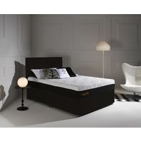 Product photograph showing Dormeo Octaspring Tiffany Midnight Black Fabric Divan Bed With Hybrid Plus Mattress
