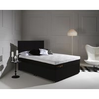 Product photograph showing Dormeo Octaspring Tiffany Midnight Black Fabric Divan Bed With Tribrid Mattress