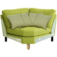 Product photograph showing Ercol Cosenza Curved Corner Fabric Sofa Unit