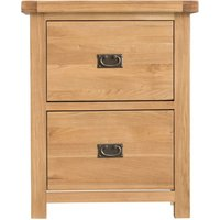 Product photograph showing Tucson Oak 2 Drawer Filing Cabinet