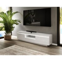 Product photograph showing Florence White High Gloss Entertainment Unit
