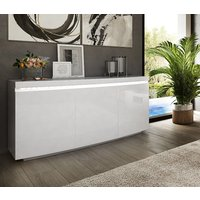 Product photograph showing Florence White High Gloss Sideboard