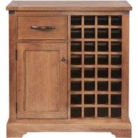 Product photograph showing Modesto Oak Wine Cabinet