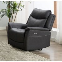 Product photograph showing Arizona Slate Fabric Electric Recliner Armchair