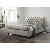 Product photograph showing Grace Champagne Fabric Bed